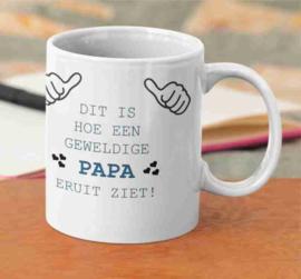 Witte mok - dit is een geweldige papa / vaderdag