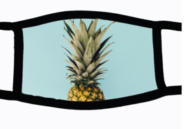 Sublimatie mondkapje met Ananas, in 3 maten