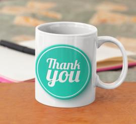 Mok  met tekst : Thank You