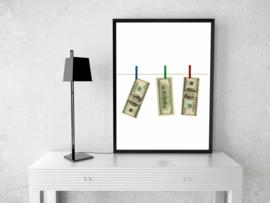 Poster - Dollar biljetten A3