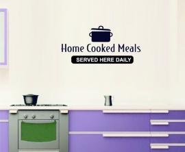 Muursticker Home Cooked Meals