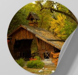 Behangcirkel zelfklevend - Huis in het Bos - sticker
