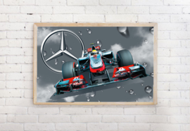 Poster formule 1 Mercedes , exclusief