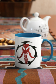 Mok, blauw handvat, Star Wars The Mandalorian logo I