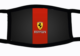 Sublimatie mondkapje met Ferrari embleem print, in 3 maten