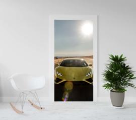 Deurposter - Lamborghini - Huricane geel