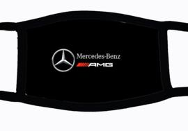 Sublimatie mondkapje met Mercedes AMG embleem print, in 3 maten