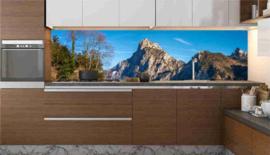 Keuken achterwand sticker Bergtoppen kleur