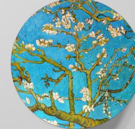 Behangcirkel zelfklevend - Van Gogh Amandelbloesem - sticker