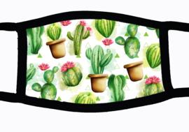 Sublimatie mondkapje met Cactus print, in 3 maten