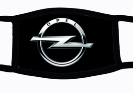 Sublimatie mondkapje met Opel embleem print, in 3 maten