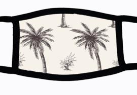Sublimatie mondkapje met palmen print, in 3 maten