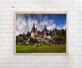 Poster Landhuis met torens