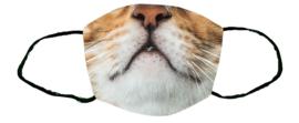 Greentex-fast Sublimatie mondkapje Kattenkop maat L