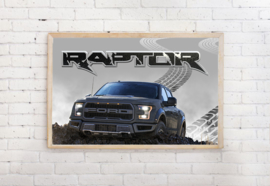 Poster Ford Raptor, exclusief