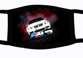 Sublimatie mondkapje met BMW M3 print, in 3 maten