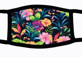 Sublimatie mondkapje met Vintage bloemen print, in 3 maten