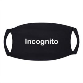 Signs Mondkapje zwart met tekst Incognito