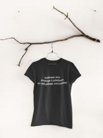 T-shirt zwart Prettige Lockdown en gelukkige vaccinatie!
