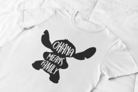T-shirt wit Stitch - Ohana means Family