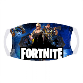 Sublimatie mondkapje in wit,  Fortnite. B-KEUS