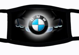 Sublimatie mondkapje met BMW embleem print grey, in 3 maten