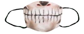 Greentex-fast Sublimatie mondkapje Halloween zombie L