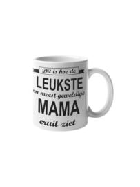 Witte mok - Dit is hoe de leukste en meest geweldige mama eruit ziet / moederdag