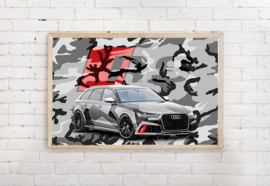 Poster Audi RS - camouflage , exclusief