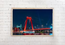 Poster Willemsbrug Rotterdam
