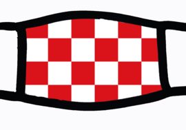 Sublimatie mondkapje met Brabantse vlag