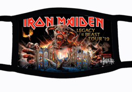 Sublimatie mondkapje met  Iron Maiden print, in 3 maten