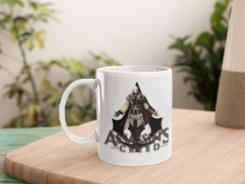 Witte mok - Assassins Creed grey