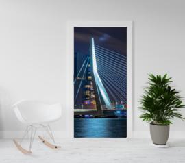 Deurposter - deursticker Erasmusbrug Rotterdam
