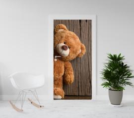 Deurposter - deursticker SUPERGROTE Teddybeer