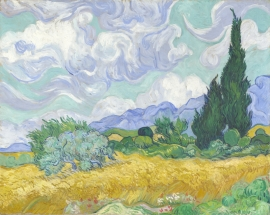 Poster Vincent van Gogh - Korenveld met Cypressen