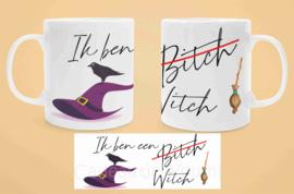 Witte mok - Ik ben een Bitch - Witch