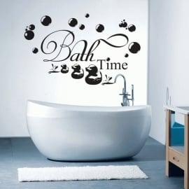 Muursticker Bath Time