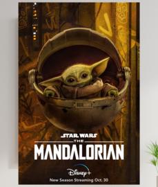 Poster Star Wars - baby Yoga -The Mandalorian