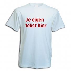 Budget T-shirts wit met eigen opdruk full colour