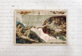 Poster De geboorte van Adam - Michelangelo