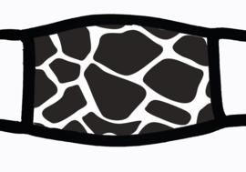 Sublimatie mondkapje met Giraffe print, in 3 maten