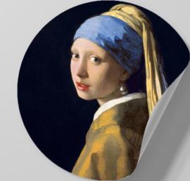 Behangcirkel zelfklevend - Meisje met de Parel - sticker