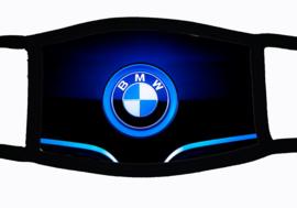 Sublimatie mondkapje met BMW embleem print blue, in 3 maten
