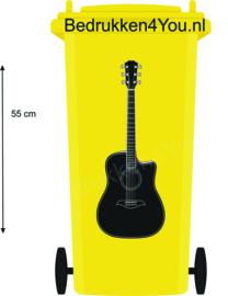 Sticker Gitaar voor Kliko - zwart - 55 cm