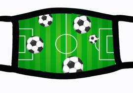 Sublimatie mondkapje met voetbalveld print, in 3 maten