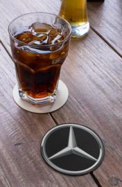 Ronde onderzetters met automerk Mercedes