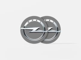 Ronde onderzetters met automerk Opel