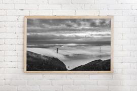 Poster Golden Gate Bridge, San Fransisco - zwart/wit