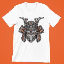 T-shirt wit Samurai, oranje